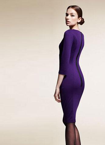 Vestido corto púrpura Primark 2013