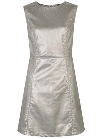 Primark vestido plateado hermoso