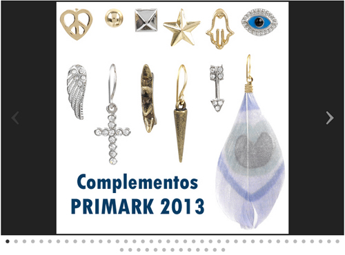 Bisuteria Primark complementos de mujer