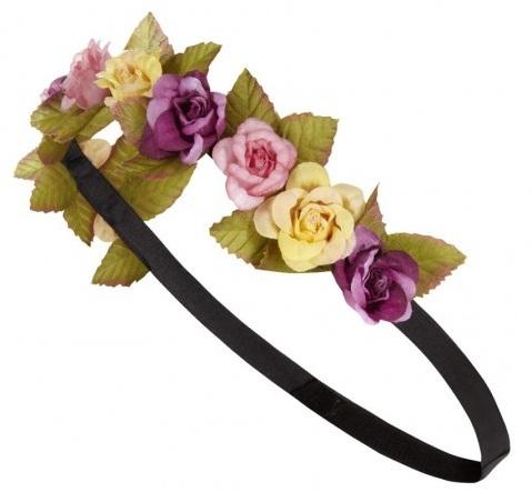 diadema con flores de colores