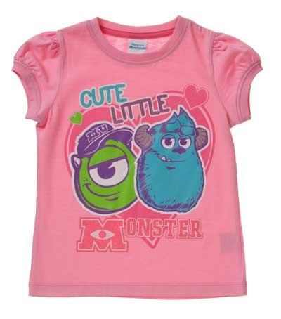 Niña camisetas de verano Monster