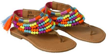 Sandalias  de niña hippie