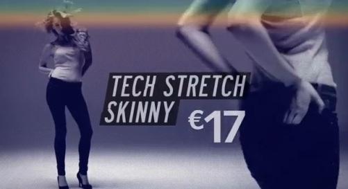 denim para mujer tech stretch skinny