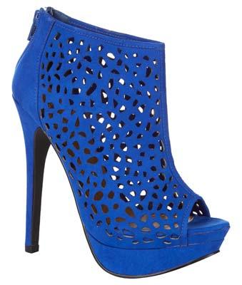 Botas de mujer en azul