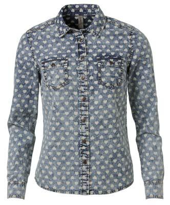 Jean camisa de corazones jean denim