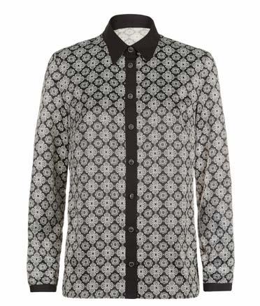 Camiseta con cuello y botones de mujer
