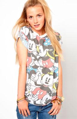 Hermosa camiseta de mujer Disney ropa de mujer Primark