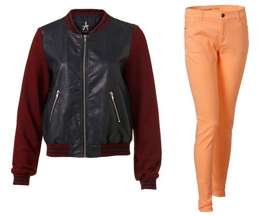 pantalon durazno y chaqueta