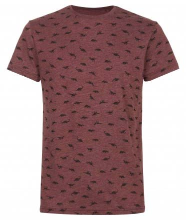 Camiseta estampada con dinosaurios