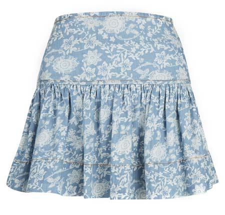 falda estampada de mujer