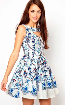 Vestido estampado de mujer
