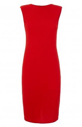 Vestido rojo de mujer sin mangas
