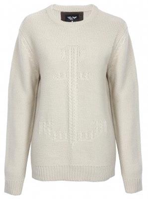 Jersey Blanco de lana para mujer