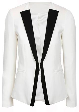 Colección otoño invierno chaqueta blanco y negro