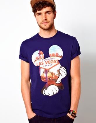 Estampado Mickey Las Vegas en camiseta