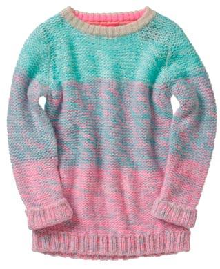 Jersey de niña colorido y de abrigo