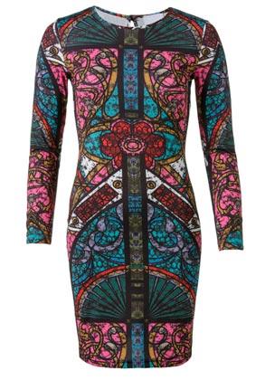 Vestido colorido de mujer