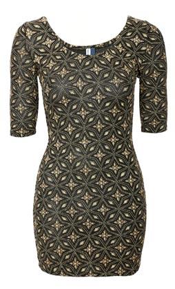 Vestido corto de mujer estampado