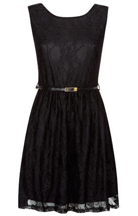 Vestido de mujer en negro sin mangas
