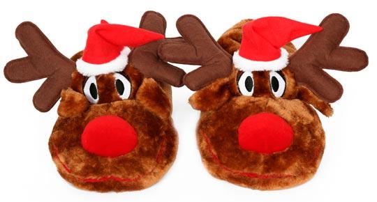Pantuflas navideñas para niños