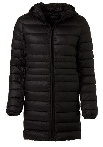 Chaqueta larga negra de abrigo