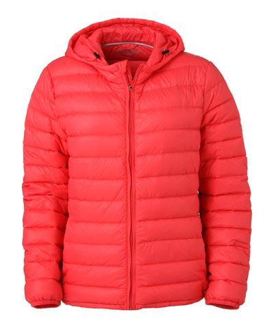 Abrigo rojo tipo chaqueta invierno