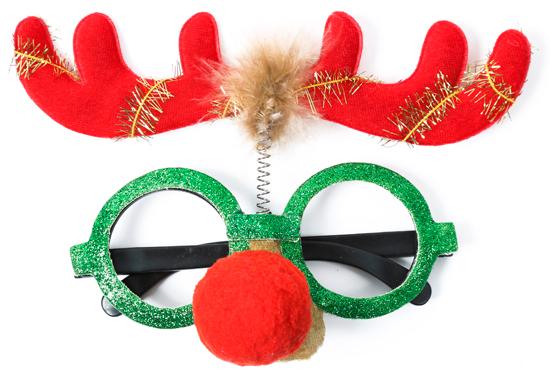 Gafas navideñas