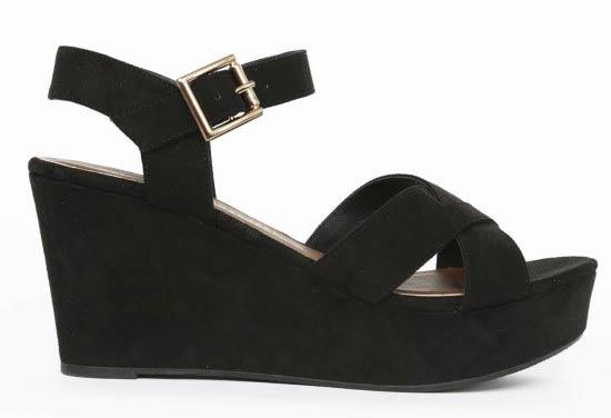 zapato alto negro