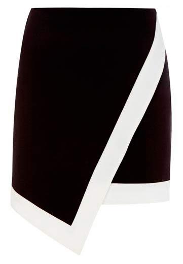 Elegante falda estilo cruzado