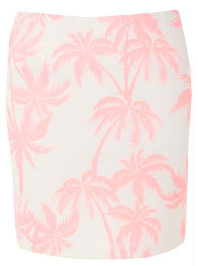 Falda estampada en rosa hermosa