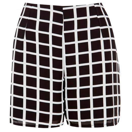 Shorts a cuadros de mujer