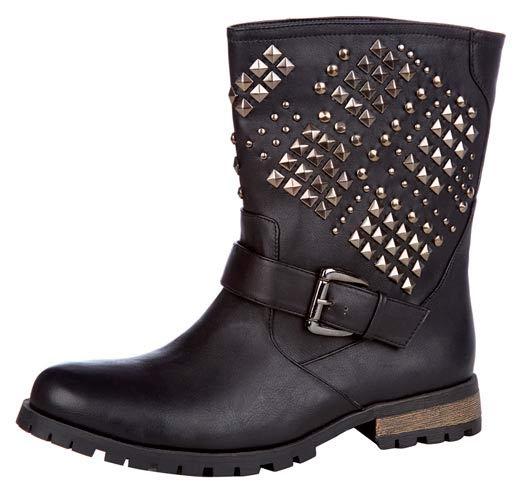 Elegantes botas de mujer con tachas