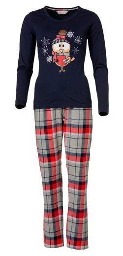 Pijama negro con pajaro