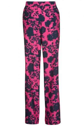 Purpura estampado pantalon palazzo
