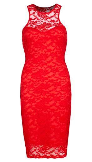 Vestido rojo provocativo de noche