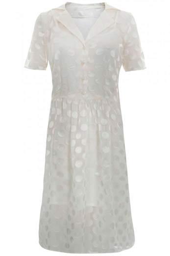 Vestido Blanco de mujer brillante