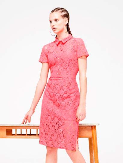 Vestido de mujer en rosa para primavera