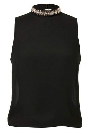 Blusa sin mangas en negro