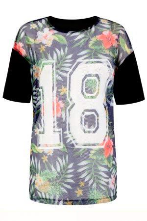 Camisa de mujer blusa floreada