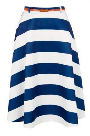 Rayada falda de mujer Primark