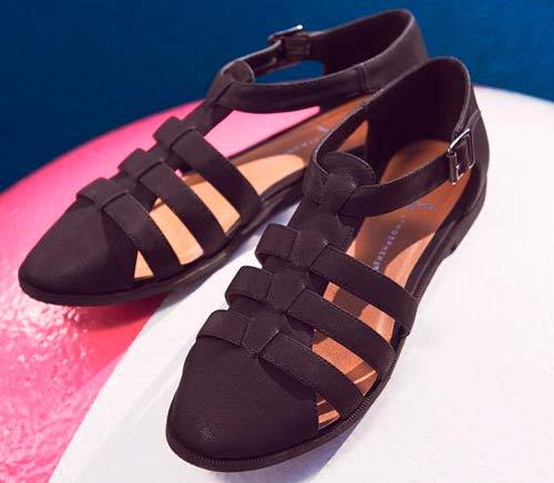 Verano sandalias de mujer negras
