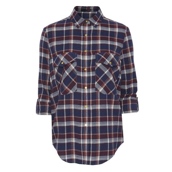 Camisa escosesa de mujer