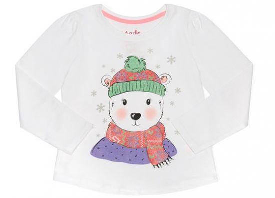 Primark camiseta de niña manga larga oso polar