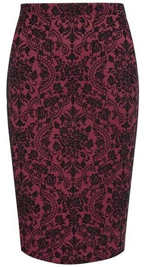 Primark falda estampada en rojo