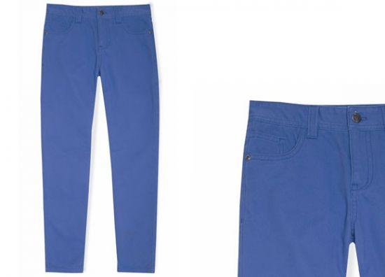 Jean de niño azul