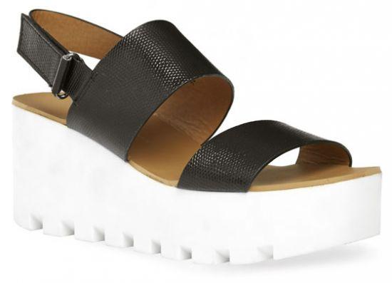 Sandalias de plataforma de piel sintética