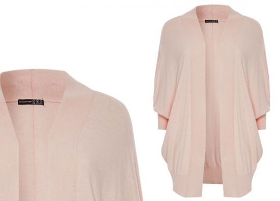 Elegante cárdigan en rosa claro