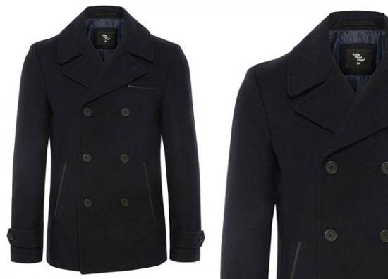 Primark chaquetón azul de abrigo para hombre
