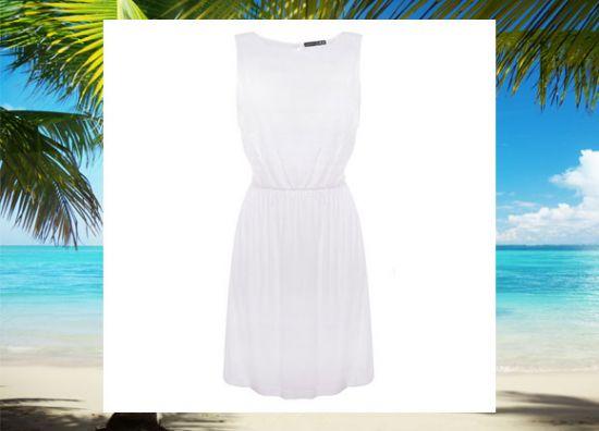 Un hermoso vestido blanco
