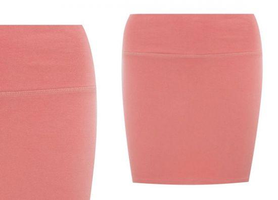 Minifalda colorida de mujer